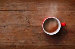 Roter Cupkaffee lizenzfreies stockbild