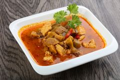 Roter Curry stockfoto