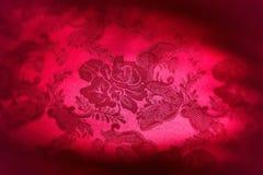Roter Damast-Gewebe-Hintergrund Stockfotos