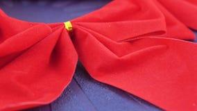 Roter dekorativer Bogen stock video footage