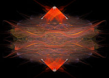 Roter Diamant-Auszug Stockfoto