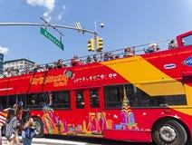 Roter Doppeldeckersightseeing-tour-Bus Lizenzfreies Stockfoto