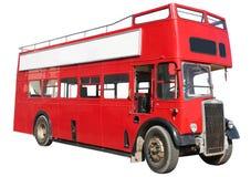 Roter doppelstöckiger Bus. Stockfoto