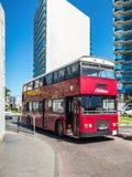 Roter doppelter Decker-Bus stockbilder