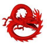 Roter Drache Stockbild