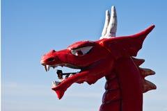 Roter Drachekopf Stockfoto