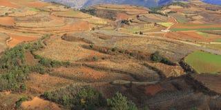 Roter Erdbereich in Yunnan Stockfotografie