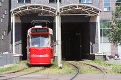 Roter Förderwagen Stockfotos