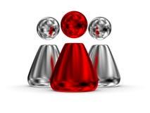 Roter Führer 04 der Leute Stockfotografie