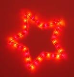 Roter fünf-spitzer Stern Stockbild