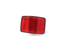Roter Fahrrad-Reflektor Stockbild