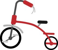 Roter Fahrrad-Vektor auf dem weißen Blackground lizenzfreie abbildung