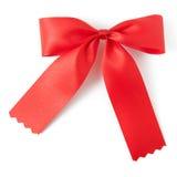 Roter Farbbandbogen Stockfoto