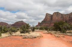 Roter Felsen-Nationalpark am bewölkten Frühlingstag Lizenzfreie Stockfotografie