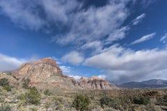 Roter Felsen Nevada Winter Morning Stockfotos
