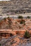 Roter Felsen-offener Raum Colorado Springs Colorados lizenzfreie stockbilder