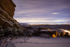 Roter Felsen-Park bis zum Nacht Lizenzfreies Stockbild
