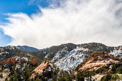 Roter Felsen-Schlucht-offener Raum Colorado Springs Stockbilder