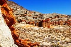 Roter Felsen und Wüste Stockfotografie
