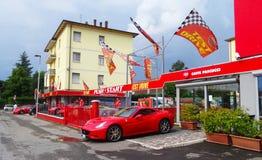 Roter Ferrari Stockfotografie