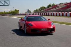 Roter Ferrari F430 F1 lizenzfreie stockbilder