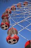 Roter Ferris Wheel Lizenzfreie Stockbilder