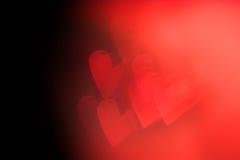Roter festlicher Valentinstaghintergrund Stockbild