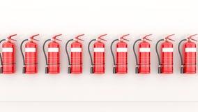 Roter Feuerlöscher Stockbilder