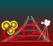 Roter Filmstreifen Lizenzfreies Stockbild