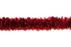 Roter Filterstreifen getrennt auf weißem Hintergrund stockbild