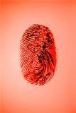 Roter Fingerabdruck lizenzfreie stockfotografie