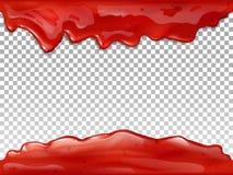 Roter Fluss des Staus lässt Illustration des Vektors 3D fallen vektor abbildung
