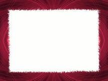 Roter Fractal-Rand mit weißem Exemplar-Platz vektor abbildung