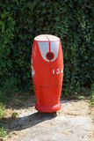 Roter französischer Hydrant Stockbild