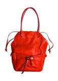 Roter Frauenbeutel getrennt Lizenzfreie Stockbilder