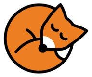 Roter Fuchs Schlafens Lizenzfreie Stockbilder