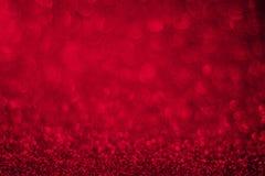Roter Funkelnhintergrund, Valentinsgruß ` s Tag Lizenzfreies Stockbild