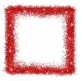 Roter Funkelnquadratrahmen Lizenzfreies Stockbild