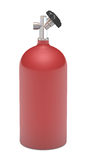 Roter Gasbehälter-Feuerlöscher Lizenzfreies Stockfoto