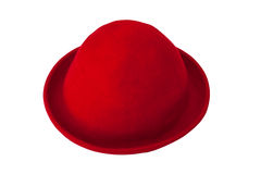 Roter geglaubter Hut Stockfoto