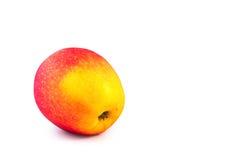 Roter gelber Apfelisolat-Weißhintergrund Lizenzfreie Stockfotos