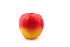 Roter gelber Apfelisolat-Weißhintergrund Stockbilder