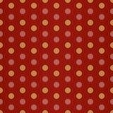 Roter gelber Polka-Punkt Stockfoto