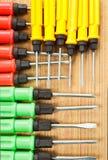Roter Gelbgrünschraubenzieher Lizenzfreies Stockfoto