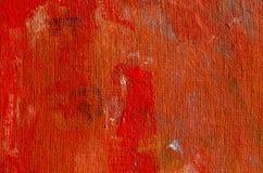 Roter gemalter Segeltuch grunge Retro- Tuchhintergrund Lizenzfreie Stockfotos