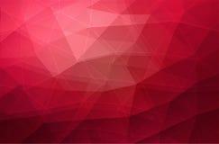 Roter geometrischer Dreieckhintergrund Stockbild