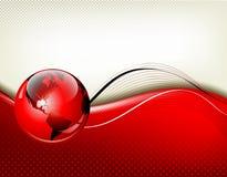 Roter Geschäftszusammenfassungshintergrund Lizenzfreies Stockfoto