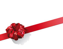 Roter Geschenk-Bogen Lizenzfreies Stockbild