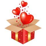 Roter Geschenk-Kasten Lizenzfreies Stockfoto