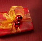 Roter Geschenk-Kasten Stockfoto